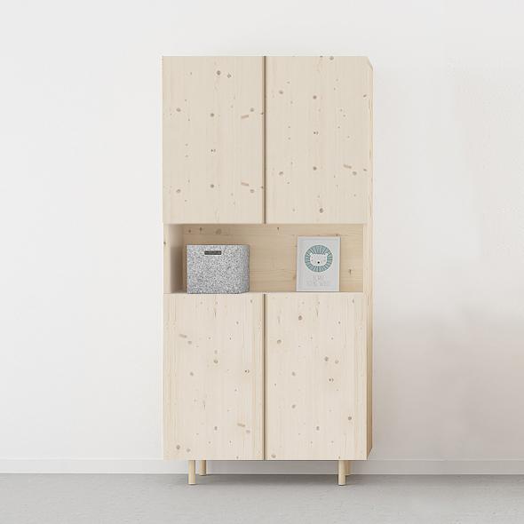 armario 4 puertas y hueco habitación juvenil en madera