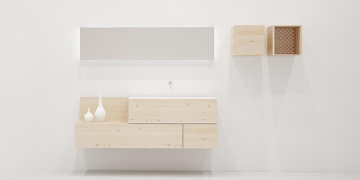 Mueble de baño moderno madera original