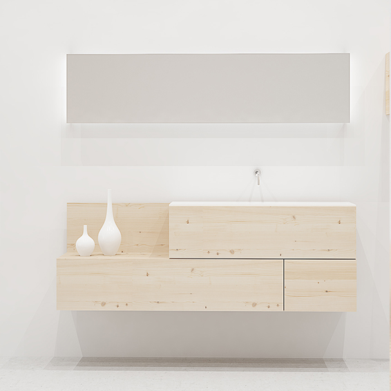 Mueble de baño moderno cajones madera