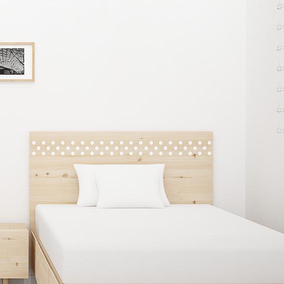 cabecero de cama de dormitorio juvenil madera