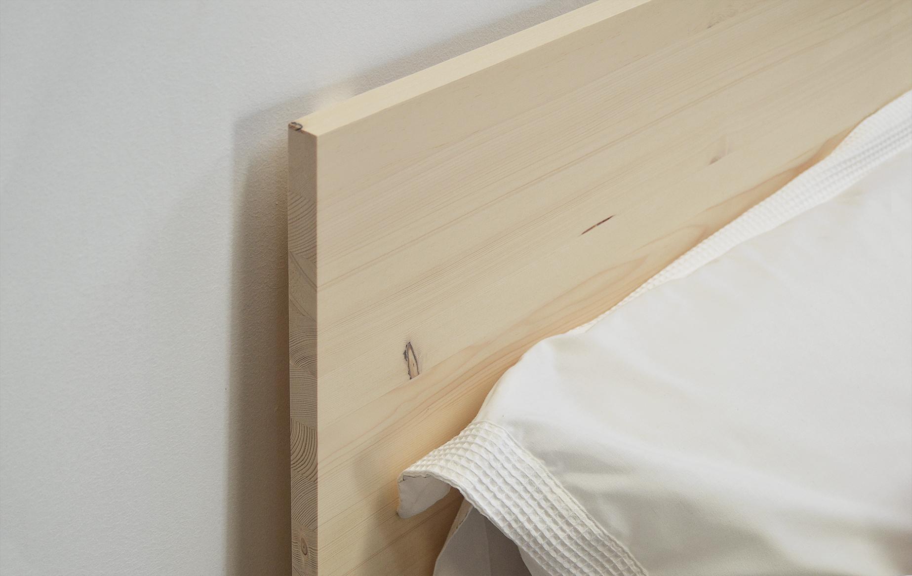 cabezal de 90 recto madera natural