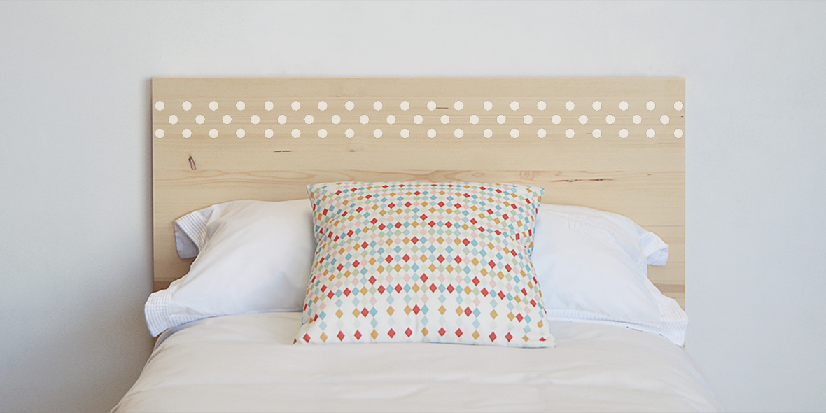 cabecero de cama infantiles madera natural