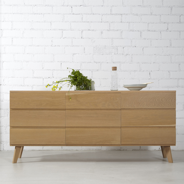 aparador madera maciza estilo nórdico