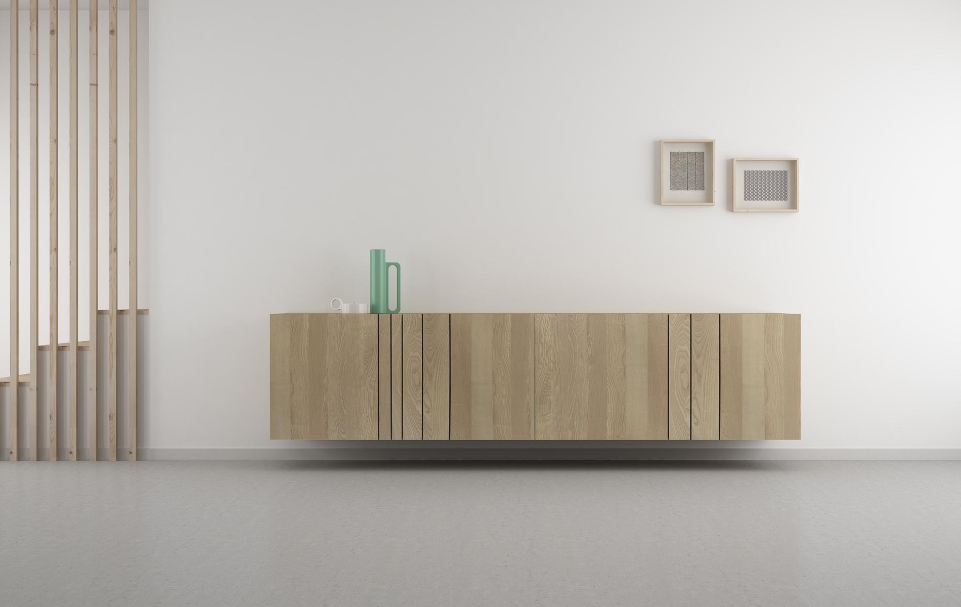 aparador madera natural diseño nórdico