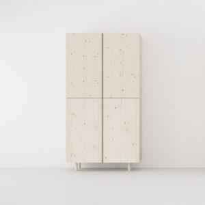 armario 2 puertas madera natural estilo nordico