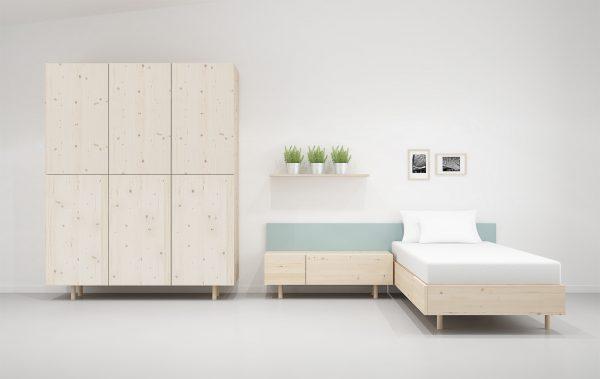 dormitorio madera natural ecológico