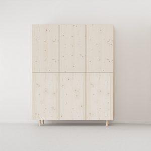 armario 3 puertas color madera natural estilo nórdico