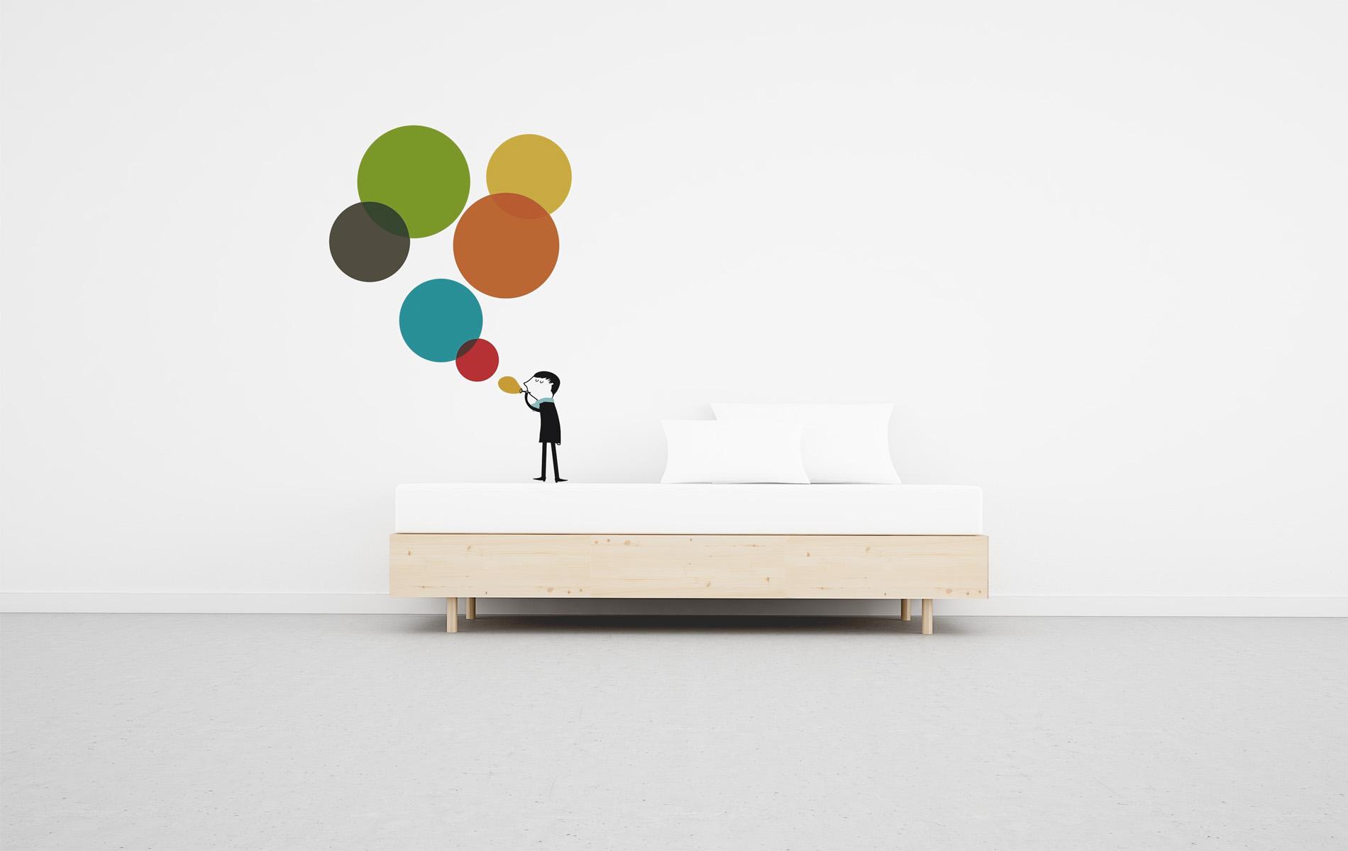 cama con cajones madera natural