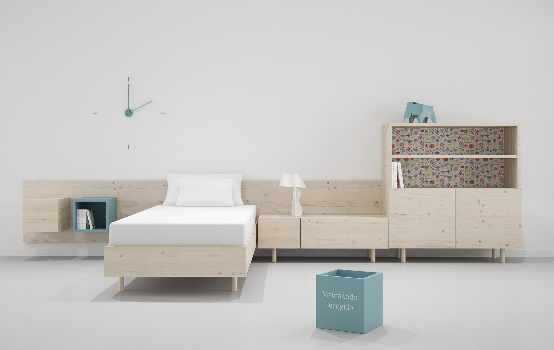 dormitorio infantil madera natural