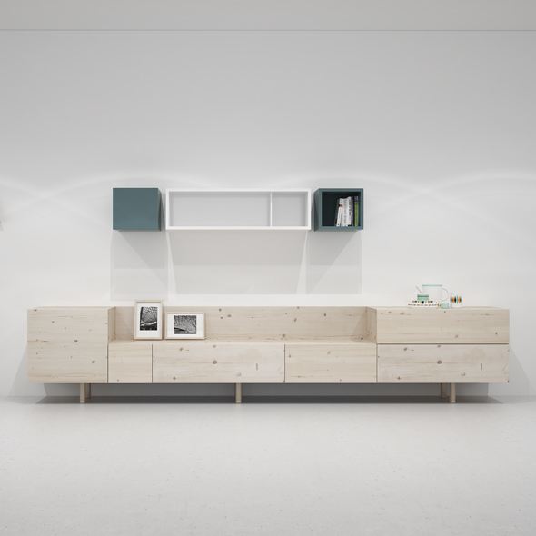 mueble salón modular madera
