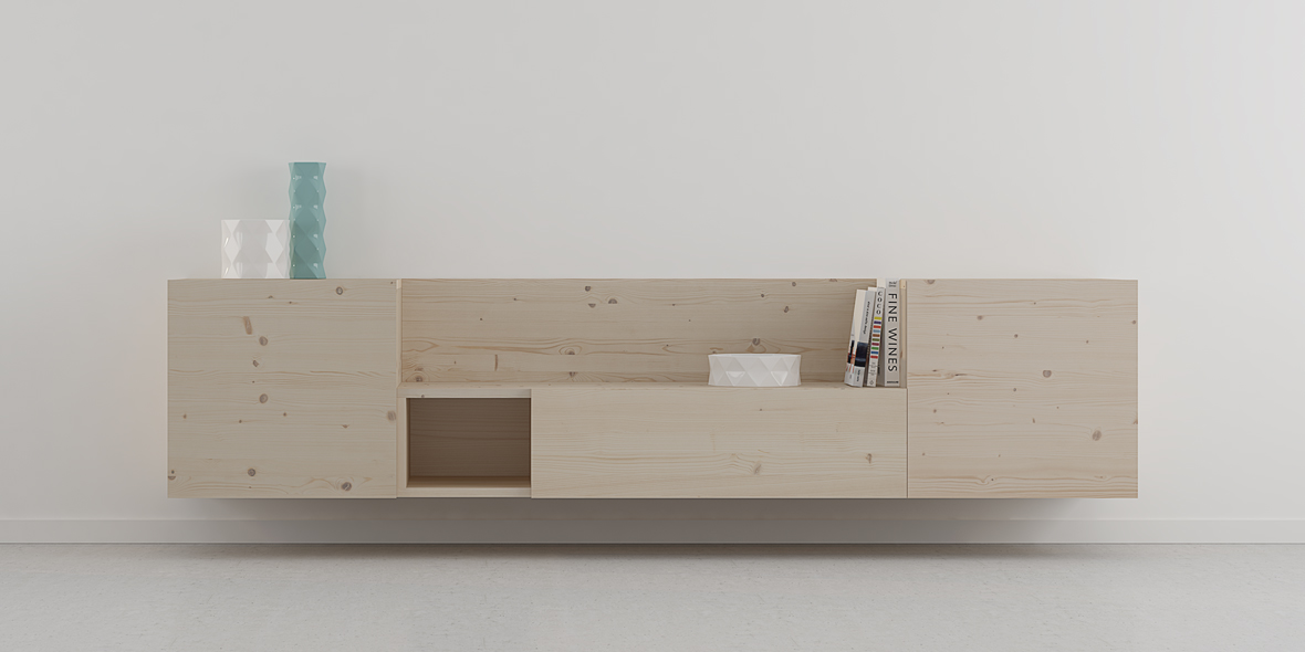 mueble salón escandinavo