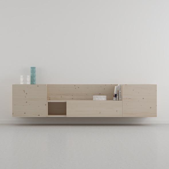 mueble salón estilo escandinavo