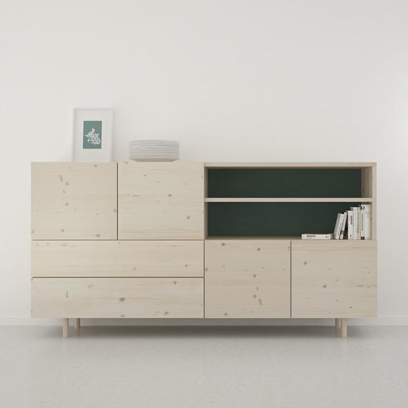 mueble salón moderno madera natural