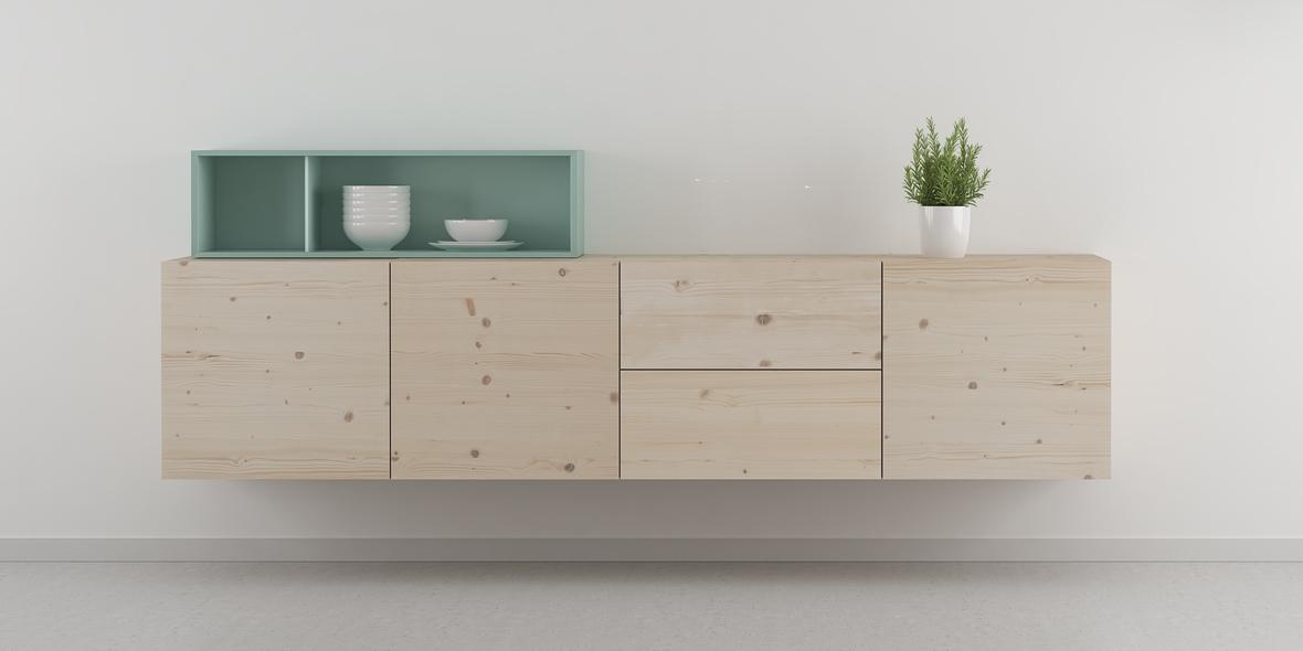 muebles salón madera natural