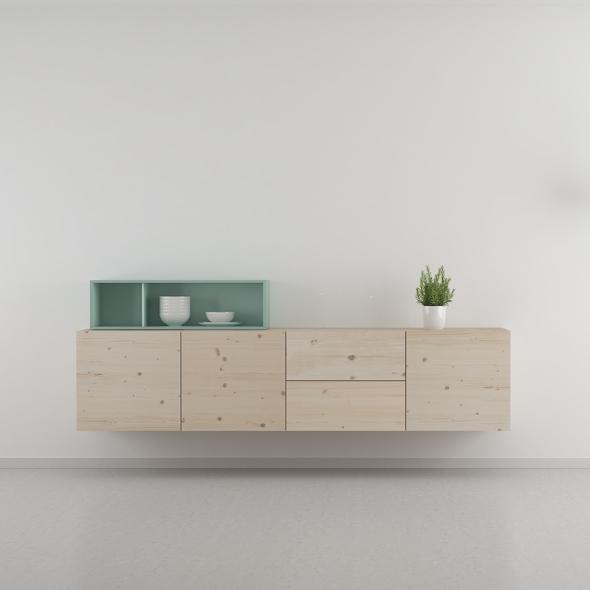 mueble salón estilo nórdico