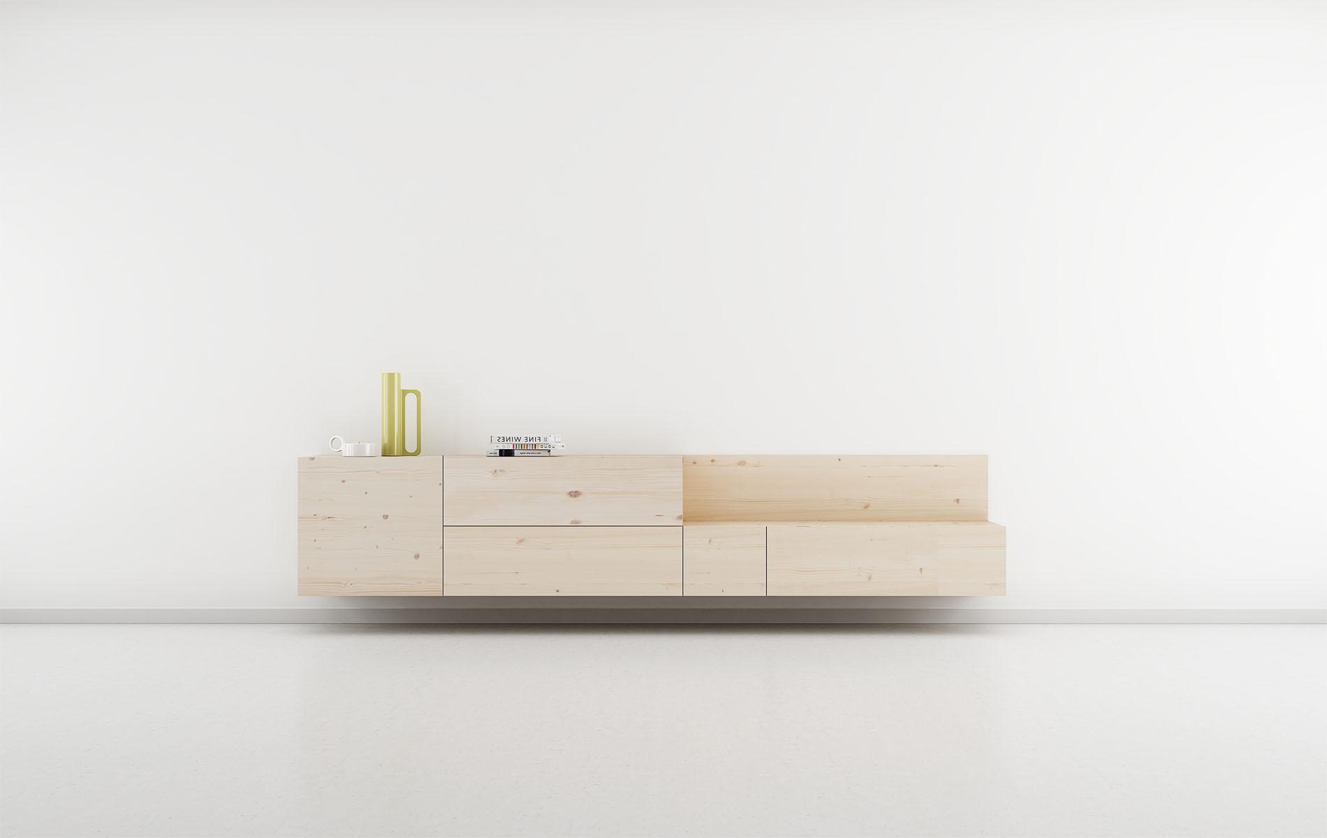 salón madera nórdico modular