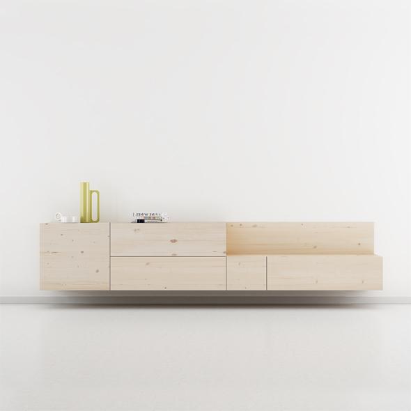 Mueble escandinavo madera clara