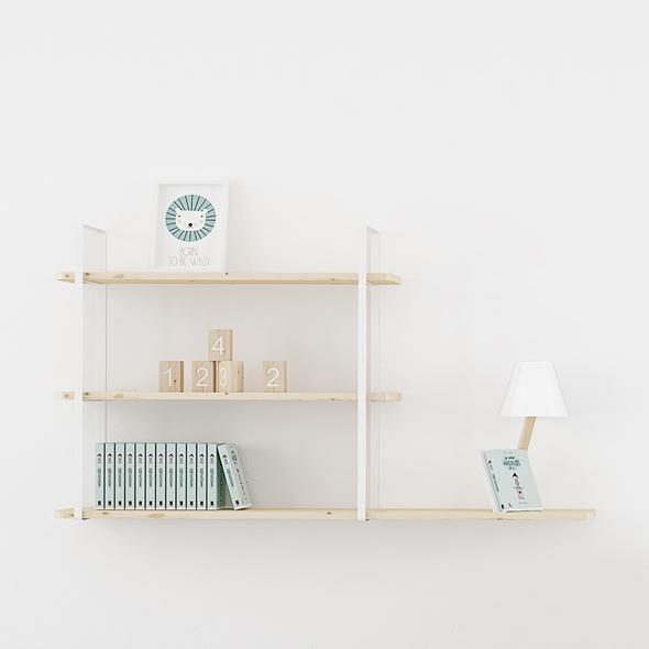 estanteria libreria madera metal