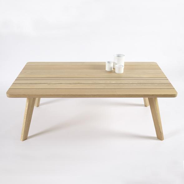 mesa centro original en madera maciza