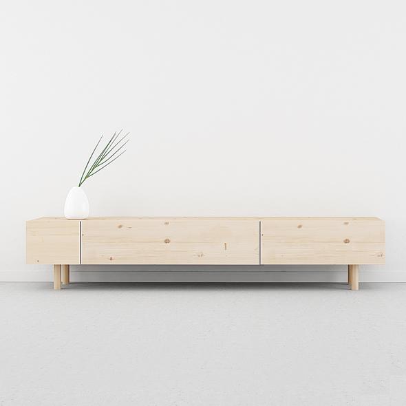 mesa TV madera cajones estilo nórdico