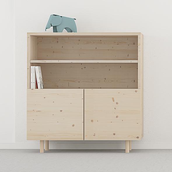 mueble librería puertas moderno a medida