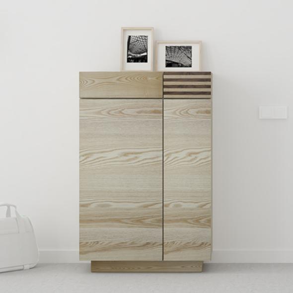 mueble zapatero madera natural