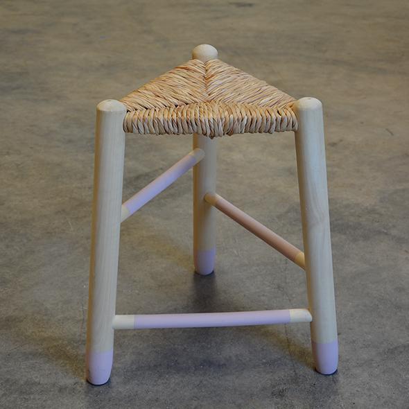 taburete madera 3 patas