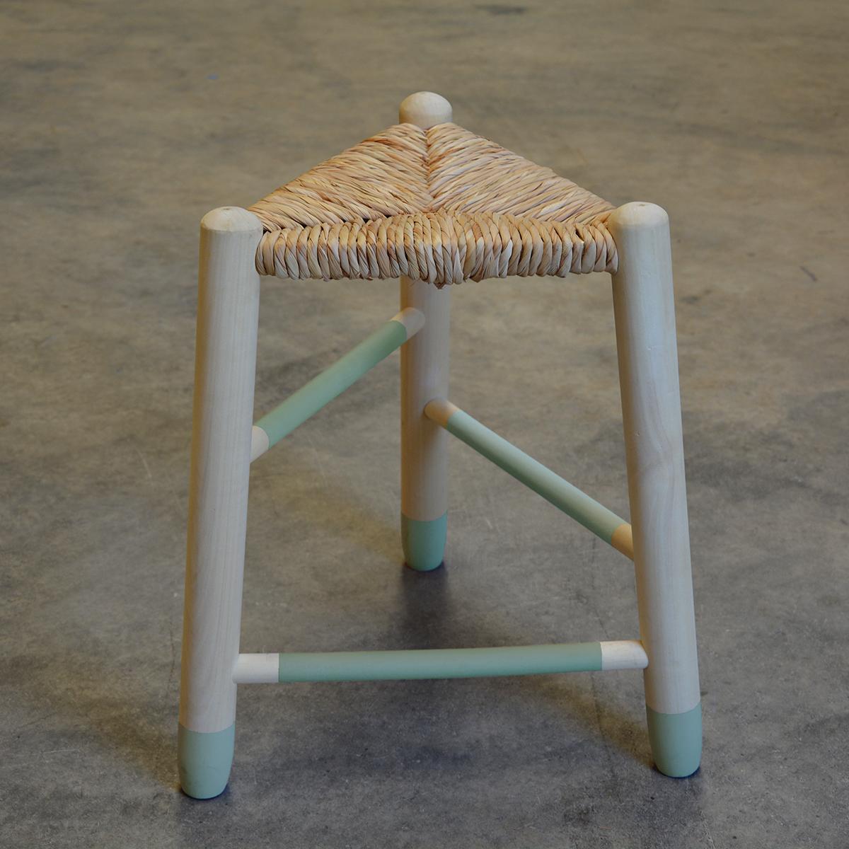 taburete asiento enea