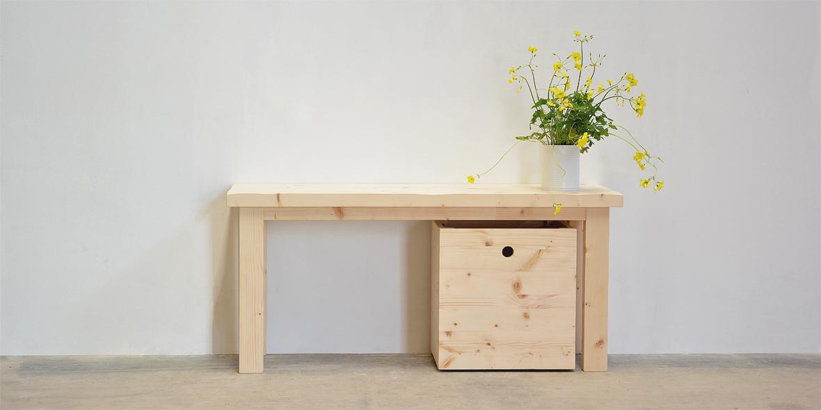 banco de madera natural