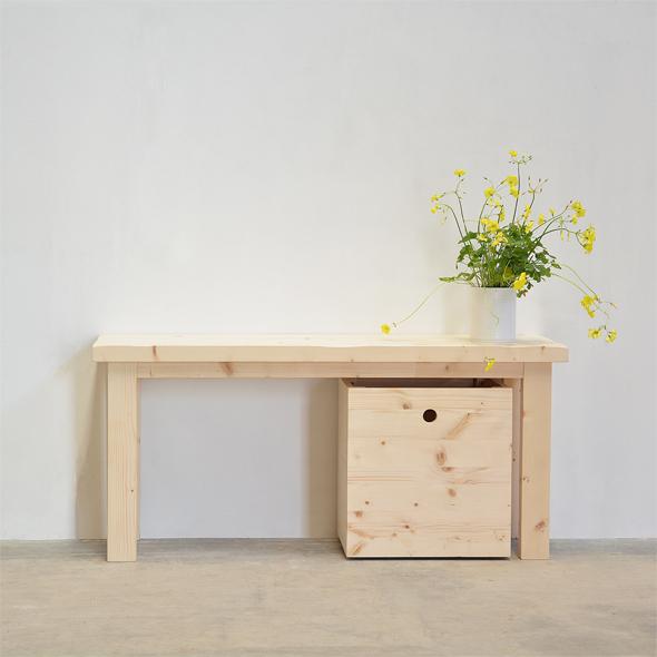 banco madera natural zapatero