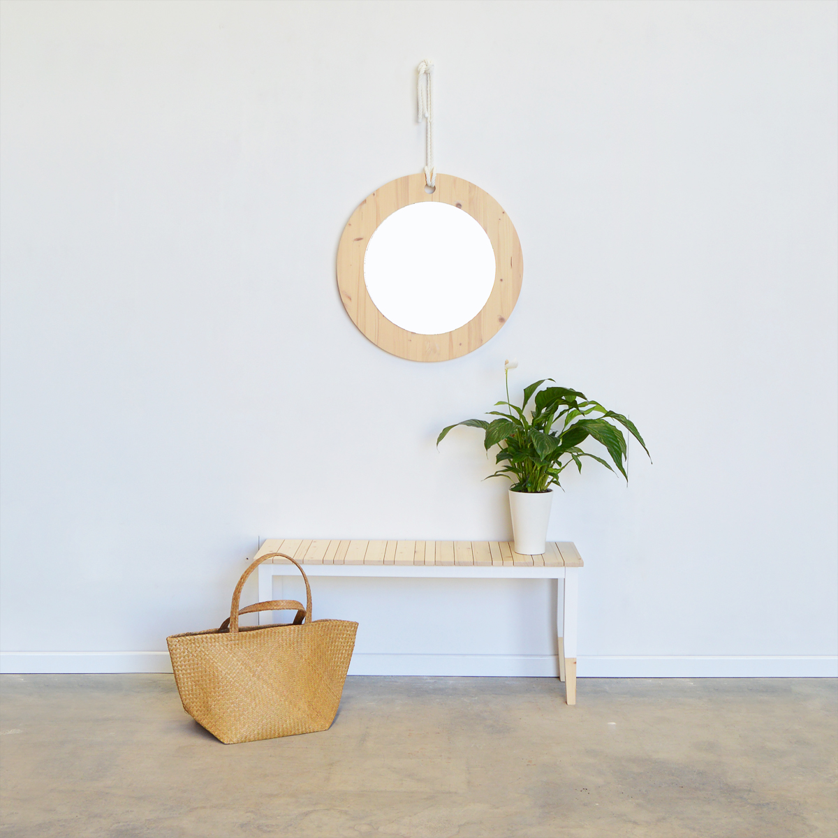 Espejo redondo estilo n rdico tienda online muebles - Espejo nordico ...