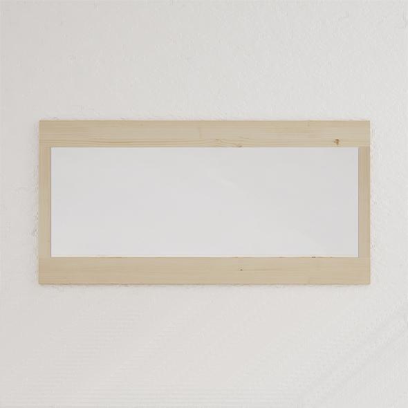 espejo rectangular madera natural estilo nórdico
