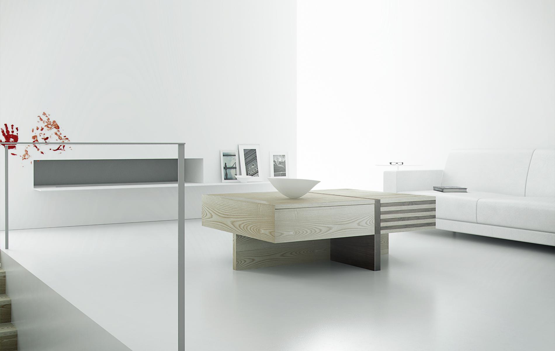 mesa centro madera original