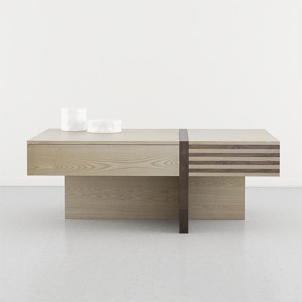 mesa centro madera cajones