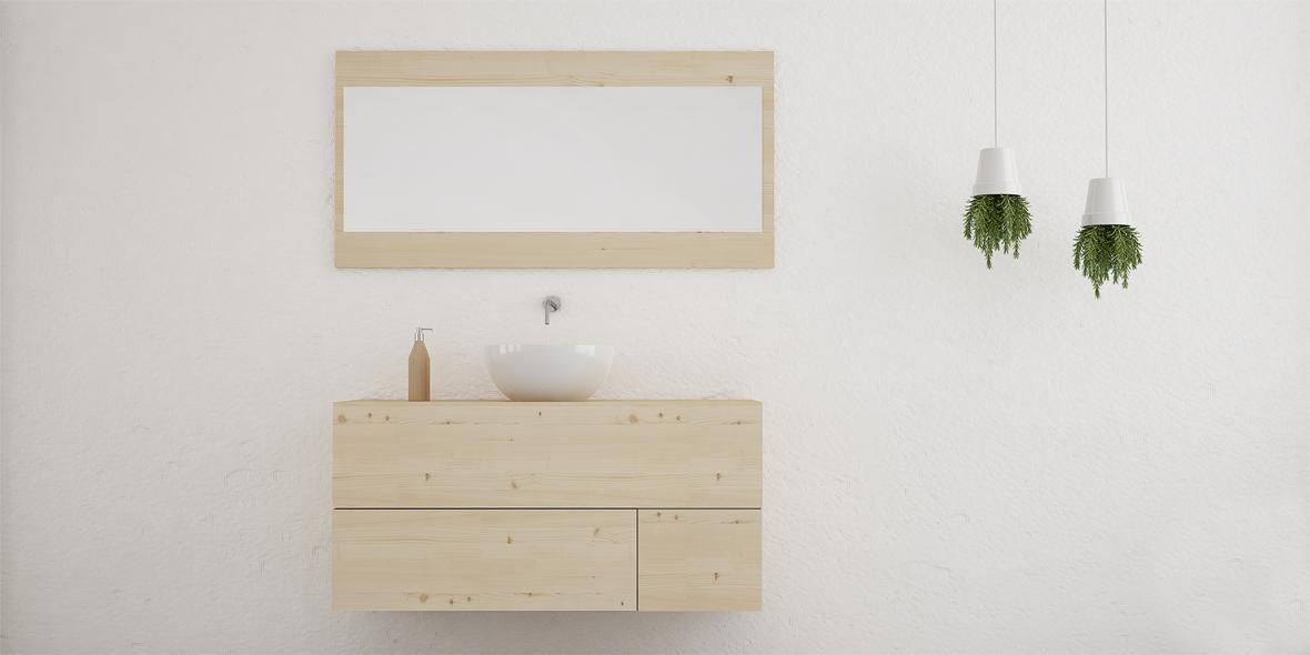 mueble de baño madera