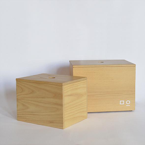 cajas de madera natural para decorar