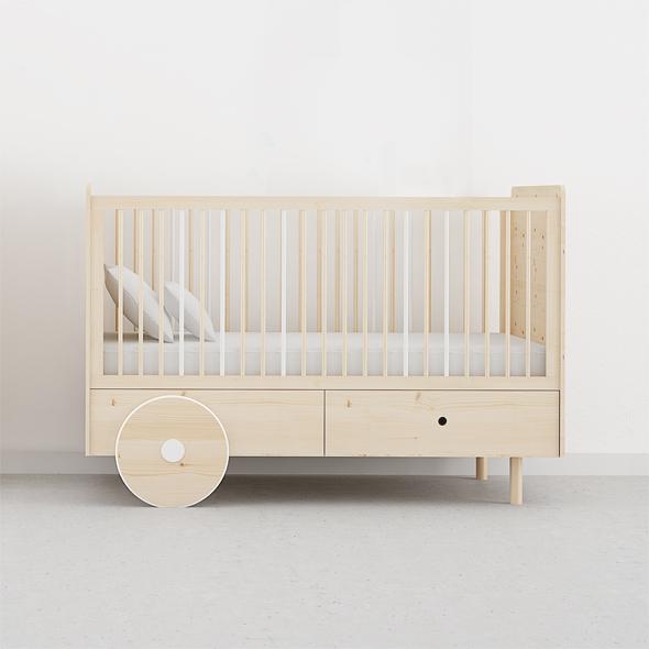 cuna madera natural bebes