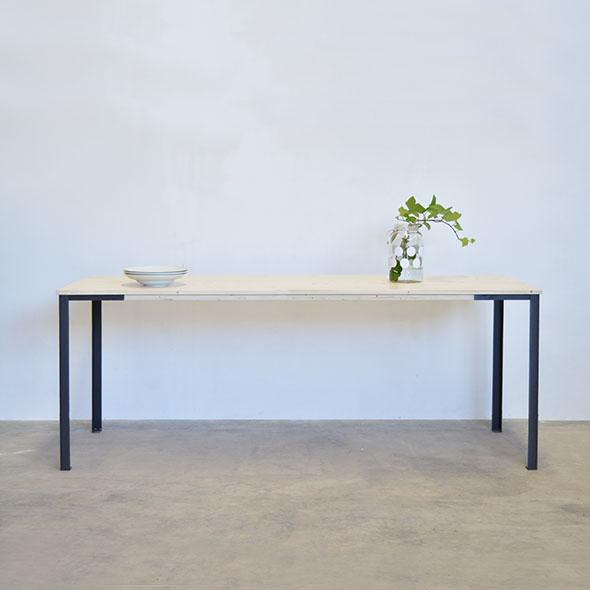 mesa madera hierro
