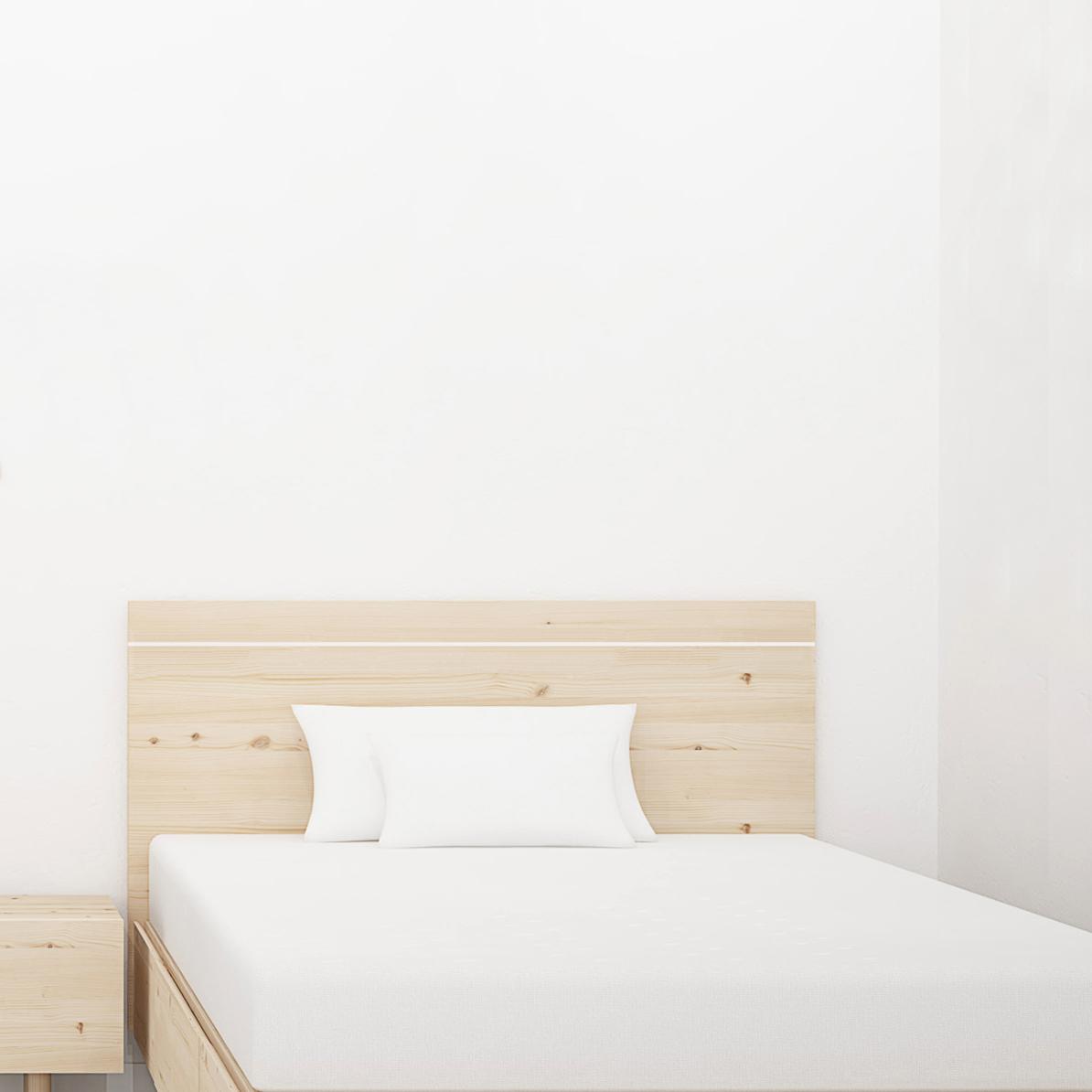 cabezal dormitorio infantil madera natural