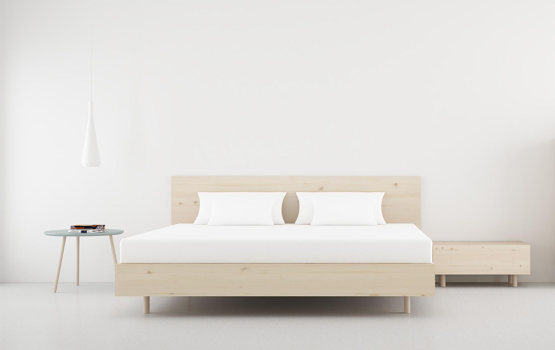 cabecero de cama madera natural