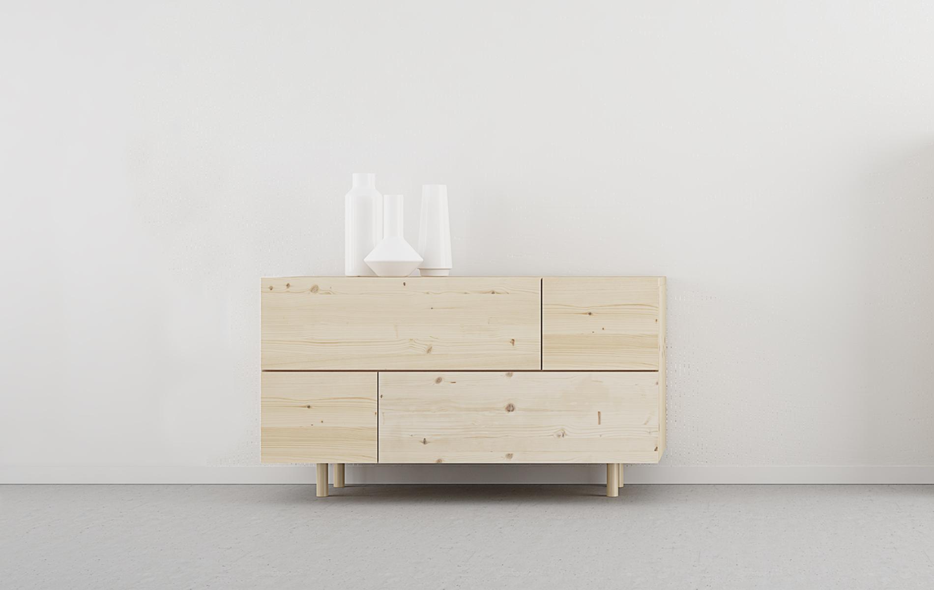 comoda madera natural