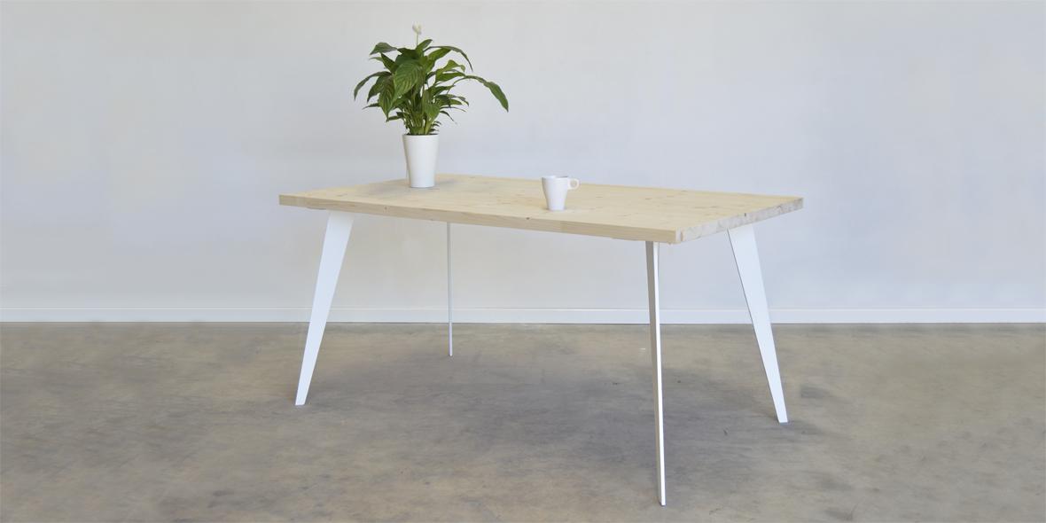 mesas de comedor patas hierro