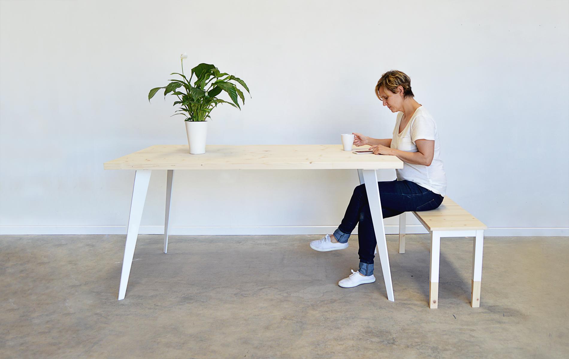mesas de comedor madera metal