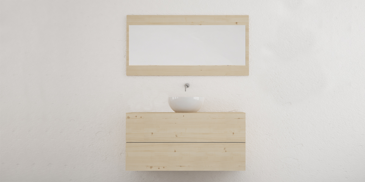 muebles de baño madera natural