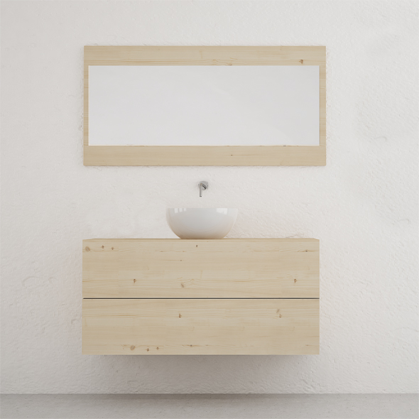 muebles de baño madera estilo nórdico
