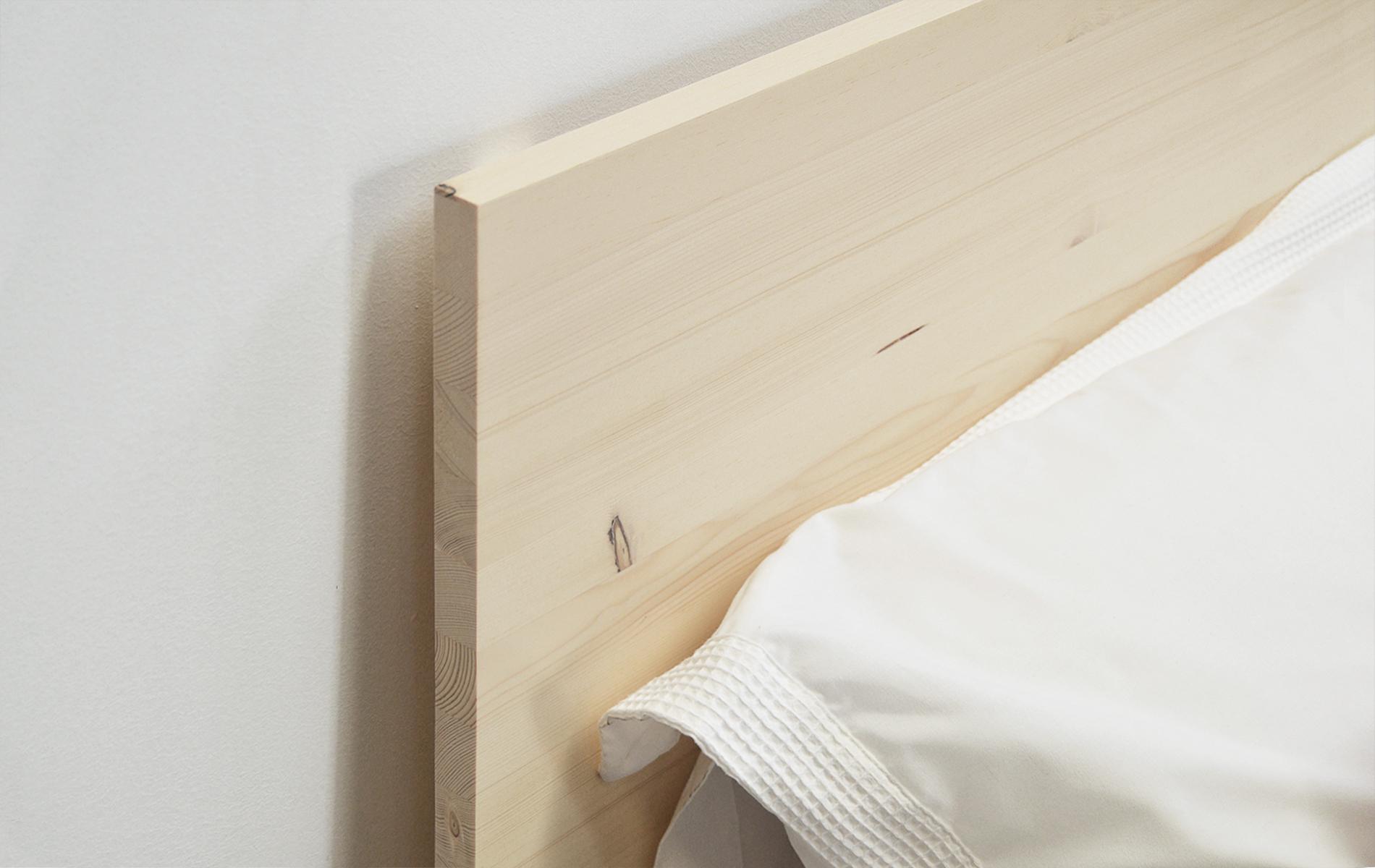 Cabezal de cama sencillo en madera natural tienda moblebo - Cabezal de madera ...