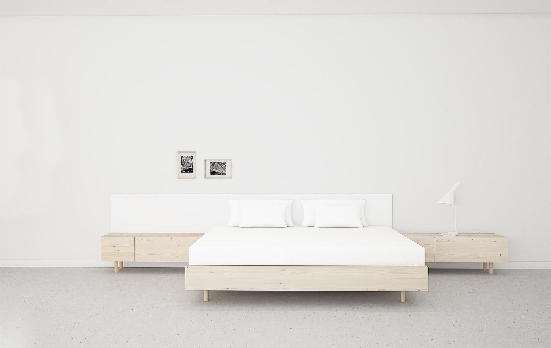 cama madera natural