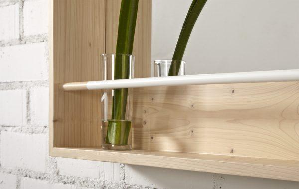 espejo madera cuadrado color natural y respisa