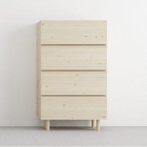 sinfonier cajones fabricado en madera maciza. Producto ecológico.