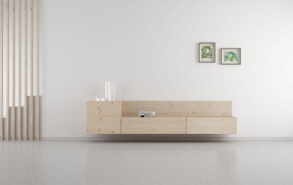 salón madera natural